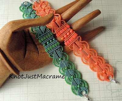Micro macrame Leaves Pattern by Sherri Stokey of Knot Just Macrame.