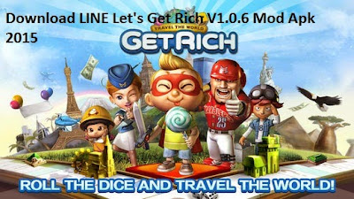 Download LINE Let's Get Rich V1.0.6 Mod Apk 2015