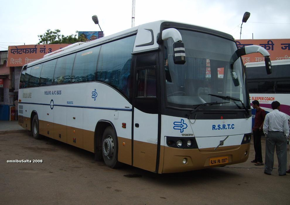 Indian Luxury Buses: Jaipur to Shimla Volvo bus service by RSRTC