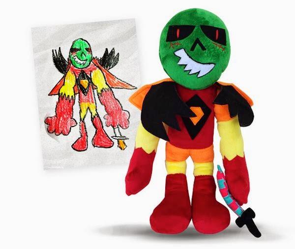 convierte los dibujos de tus hijos en muñecos de peluche