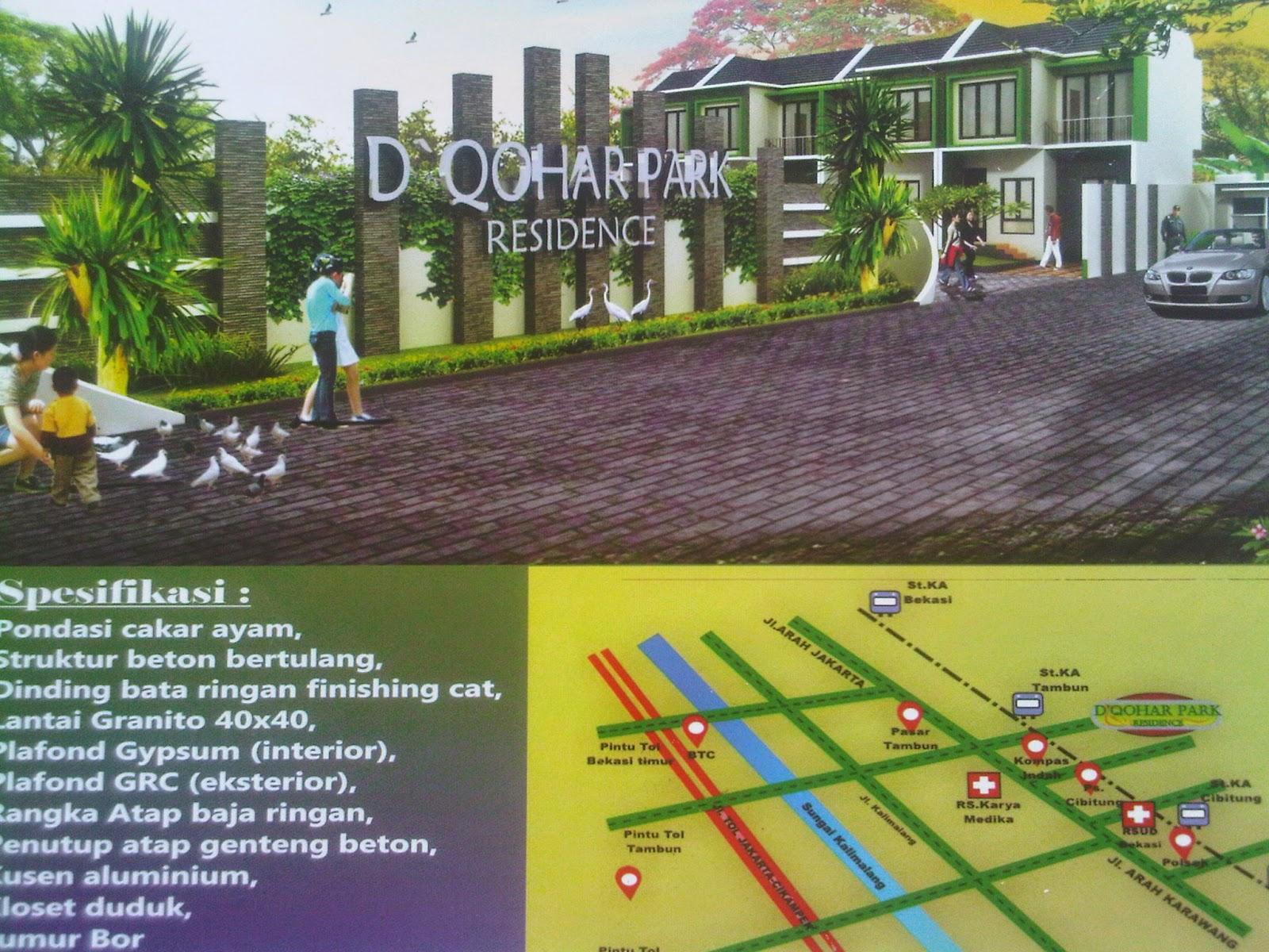 D QOHAR PARK RESIDENCE TownHouse 2 Lantai Dekat Ke Stasiun Tambun