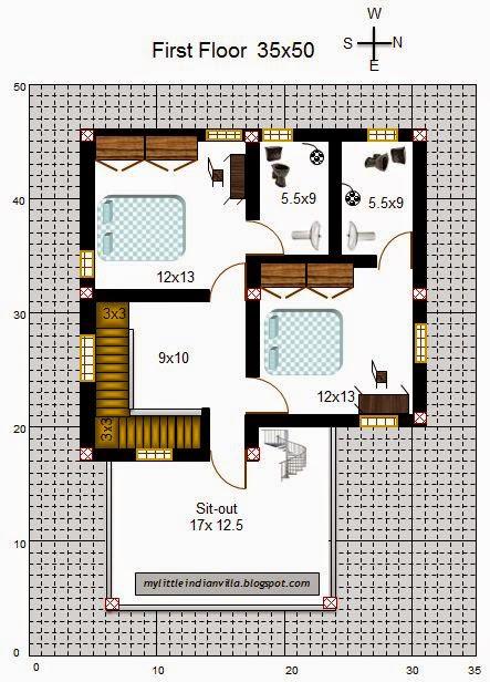 My Little Indian Villa 52 R45 3bhk Duplex In 35x50 East