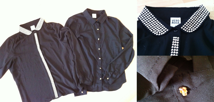Two lovely black blouses from zalando