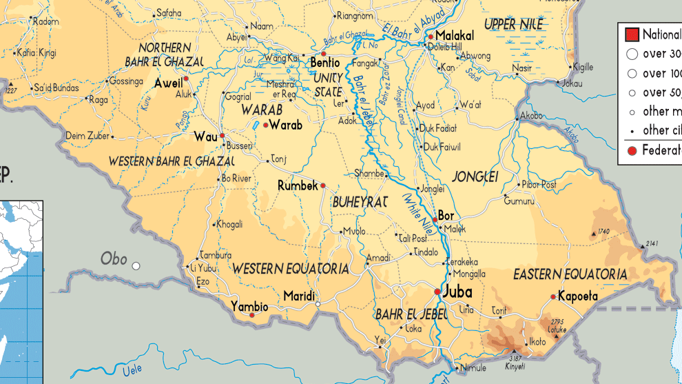 Safari Notes South Sudan Map Where will its new capital be