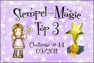Hurra Top 3 bei der challenge #44 Stempel -Magie