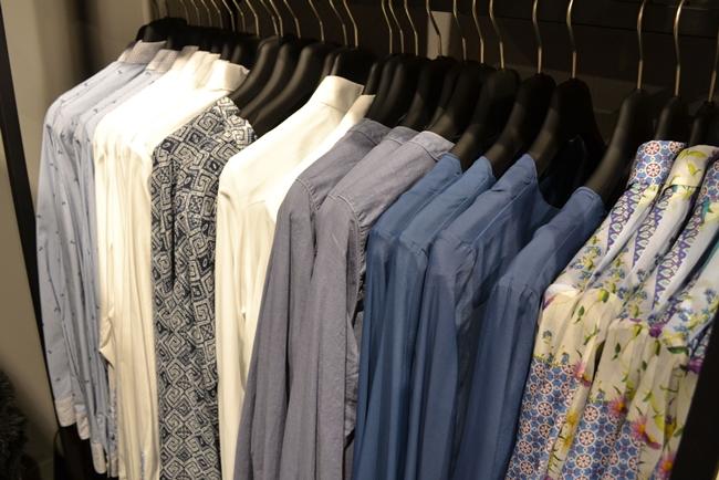 Seidensticker Store-Opening in Köln, Seidensticker Shop Breite Straße Köln, blaue pastell Blusen