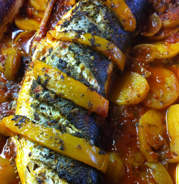 Simple plant based recipes moroccan style baked fish for Moroccan fish recipe