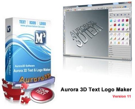 Aurora 3D Text and Logo Maker v11.0 Aurora 3D Text Logo Maker 11 1