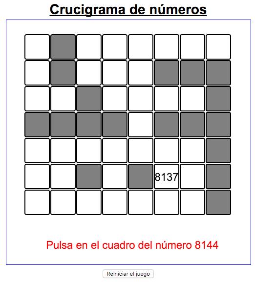 TABLA NUMÉRICA.