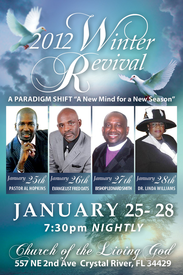 Designs By Rachelle: Winter Revival Bookmark and Flyer Design