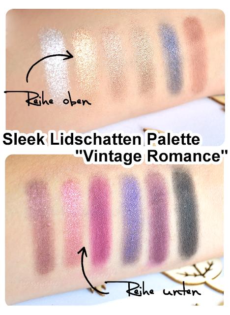 Sleek Vintage Romance i-Divine Lidschatten Palette VINTAGE ROMANCE Swatch