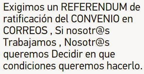 Recogida de firmas pro-referendum del IV Convenio