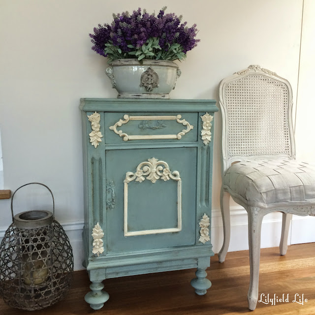 French Bedside painted in ASCP Duck Egg by Lilyfield Life