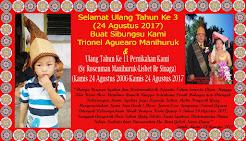 Selamat Ulang Tahun Ke-3 Trionel Aguero Manihuruk dan HUT Ke 11 Pernikahan Rosenman Manihuruk-Lisbe