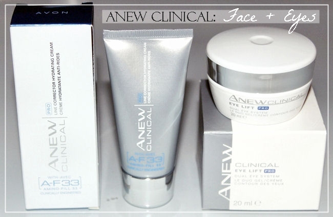 Avon Anew Clinical: PRO line corrector hydrating cream and Eye lift PRO. Best skincare from Avon.