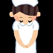 お辞儀をしている女性看護師・看護婦のイラスト