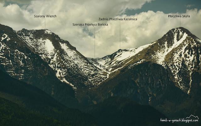 Widok na Szeroką Przełęcz Bielską znad Ździaru
