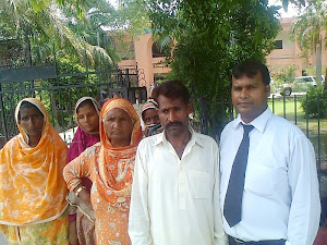 Advocate Sardar Mushtaq Gill Director LEAD with Christian women at Kasur