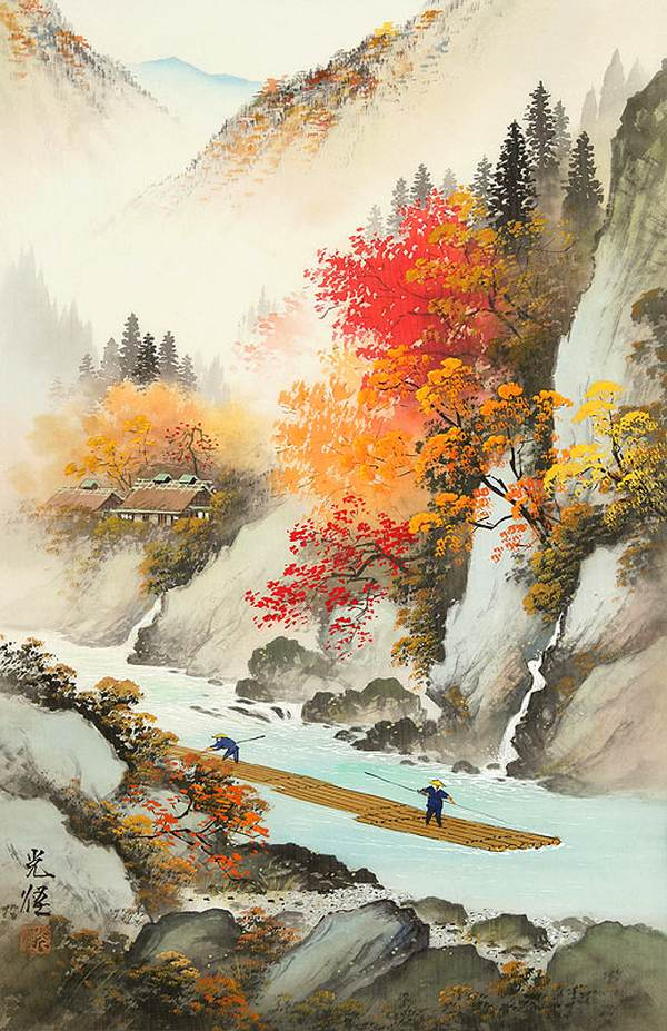 Image Gallery japan landscape paintings