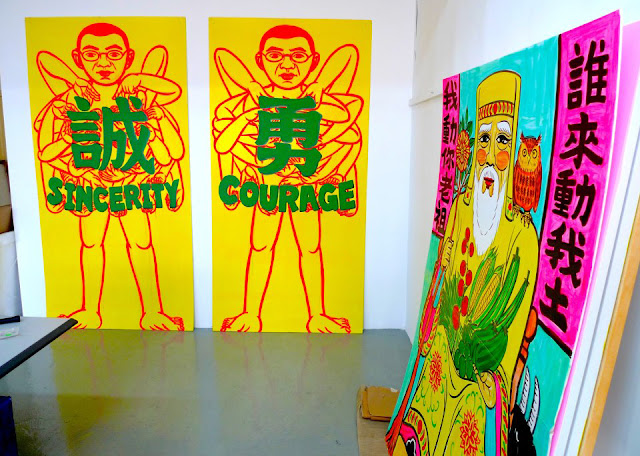'sincerity' 'courage' wilson shieh paintings at Fotanian 2013
