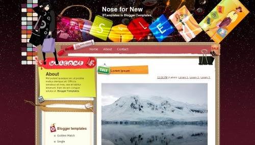 Nose for New - Blogger Template cá tính dành cho bạn trẻ năng động