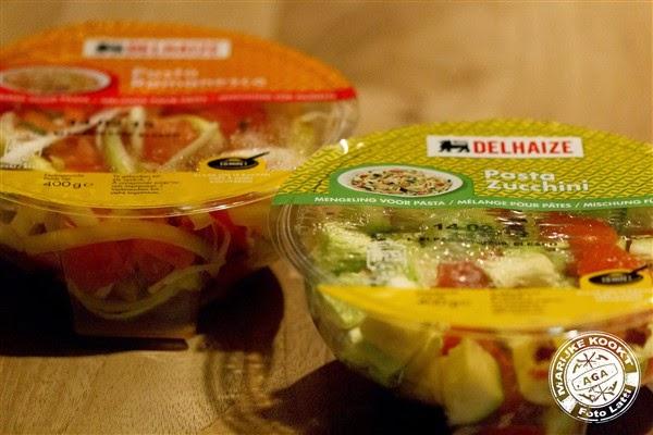 Pasta romanesco en pasta zucchini Delhaize