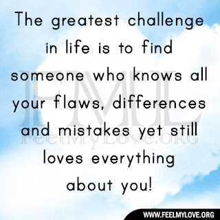 The greatest challenge in life is