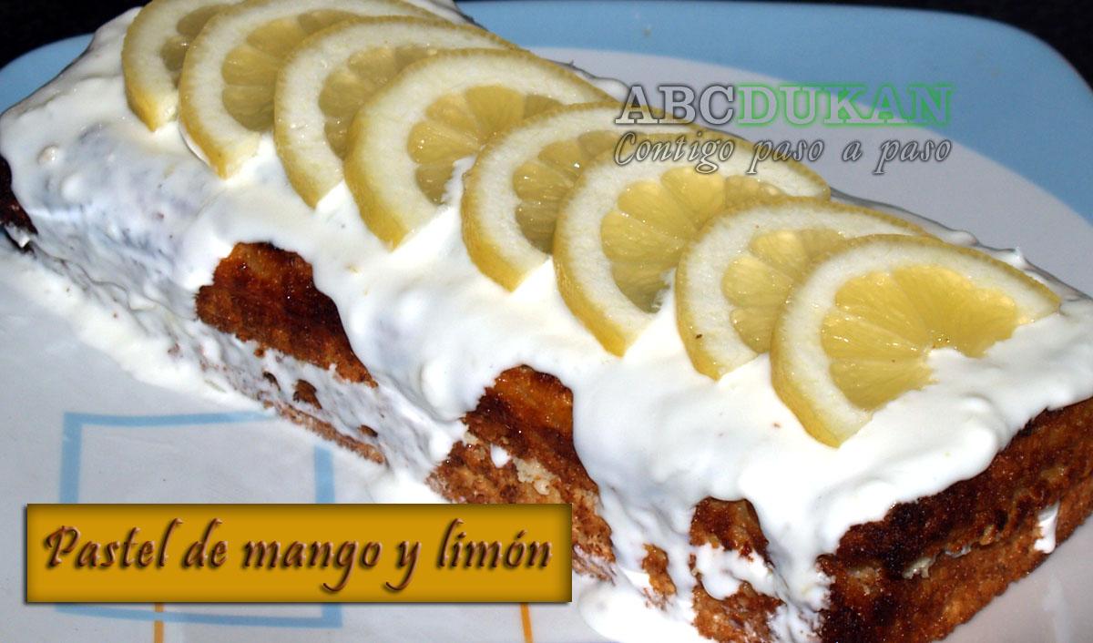 pastel de mango y limón