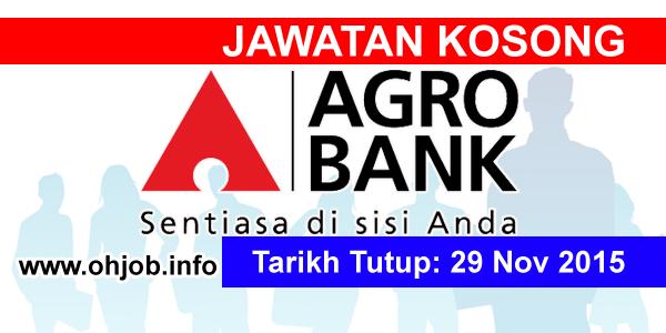 Jawatan Kerja Kosong Bank Pertanian (AgroBank) logo www.ohjob.info november 2015