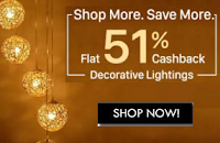 Buy Decorative Lights at 51% Cashback : BuyToEarn