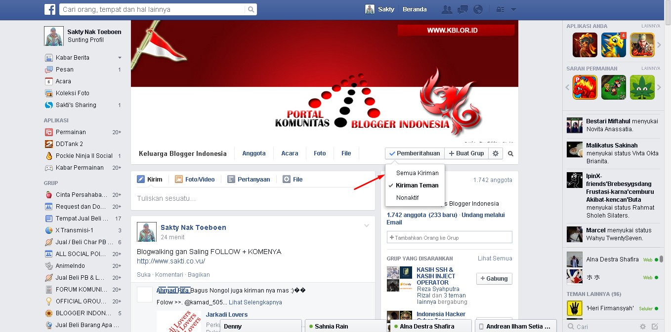 Auto Komentar Group Facebook