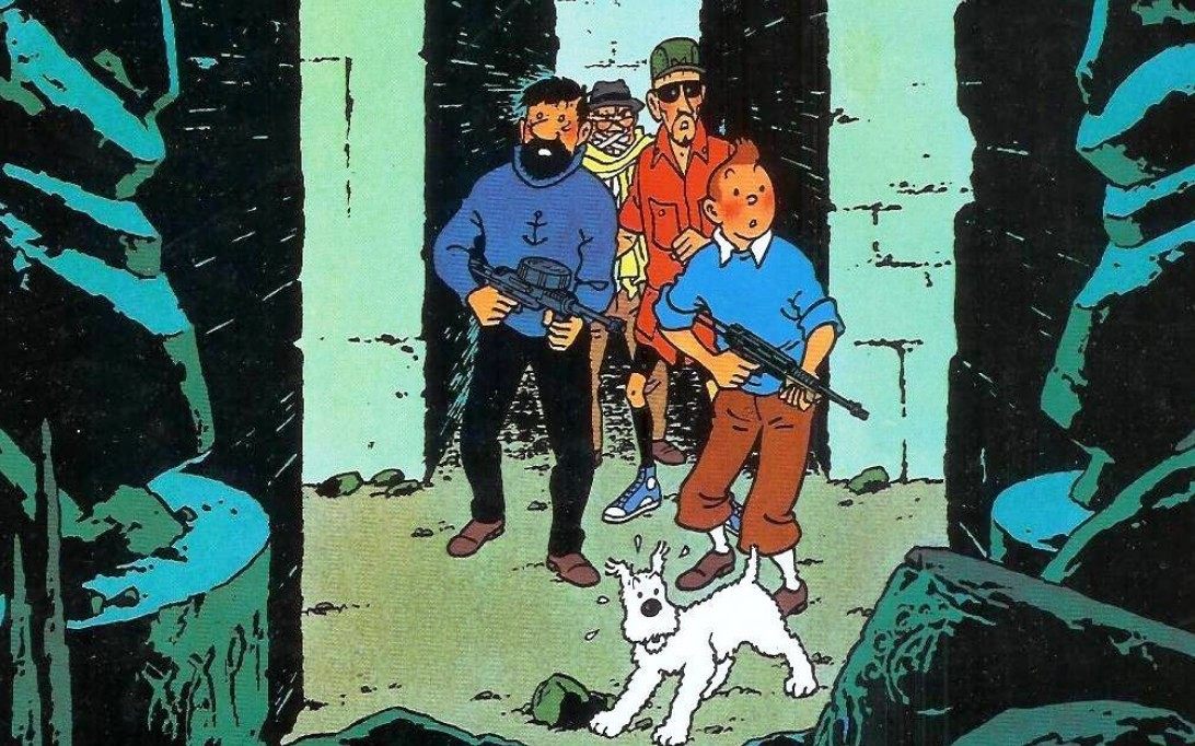 Tintin and Snowy cartoon picture 3