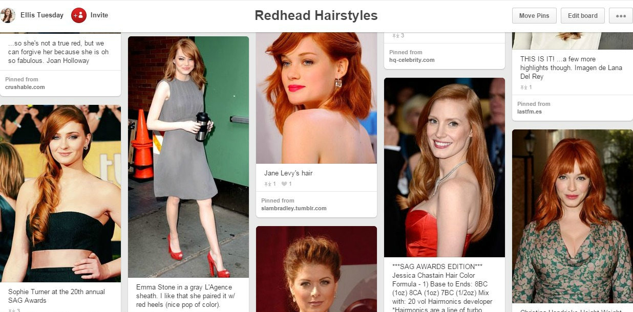 Redhead Hairstyle Board Beauty Pinterest