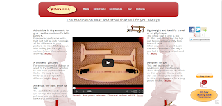 Kindseat Meditation Seat and Bench Main web page