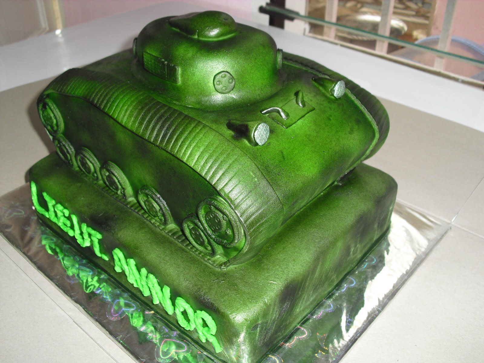 Cakes by Elsie Aikens Military tank cake and others