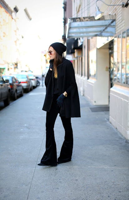 trending: black bell bottom 70s flares