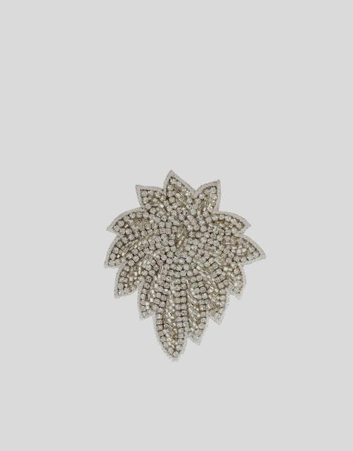 rhinestone leaf clip