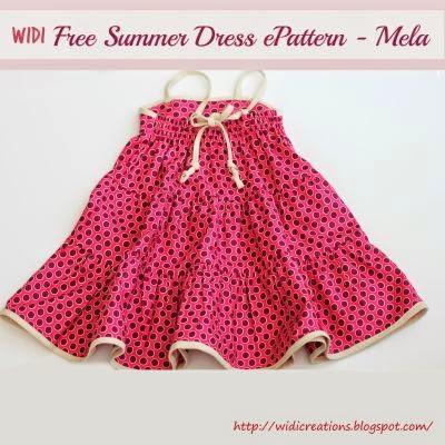Summer dress girl - free sewing pattern