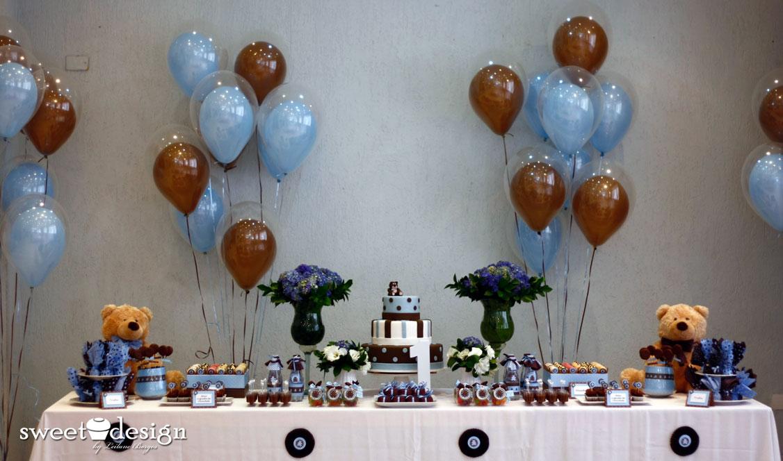 decoracao festa urso azul e marrom:Sweet Design by Leilane Borges: O belo Azul e Marrom com Ursos!