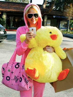 paris hilton with duck