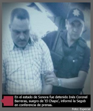 """Captura Marina, SEDENA y PGR al suegro del """"Chapo Guzmán"""""""