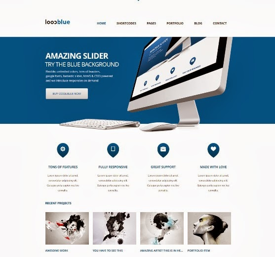 Coolblue Responsive Multipurpose WordPress Theme