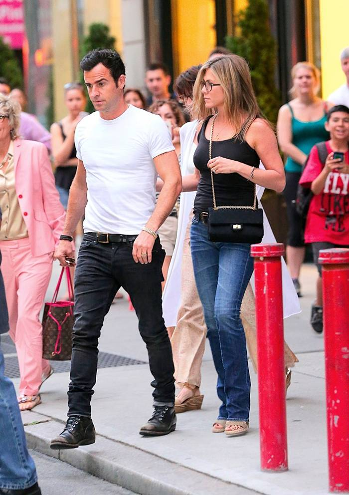 Jennifer Aniston Out at Blue Hill Restaurant in New York