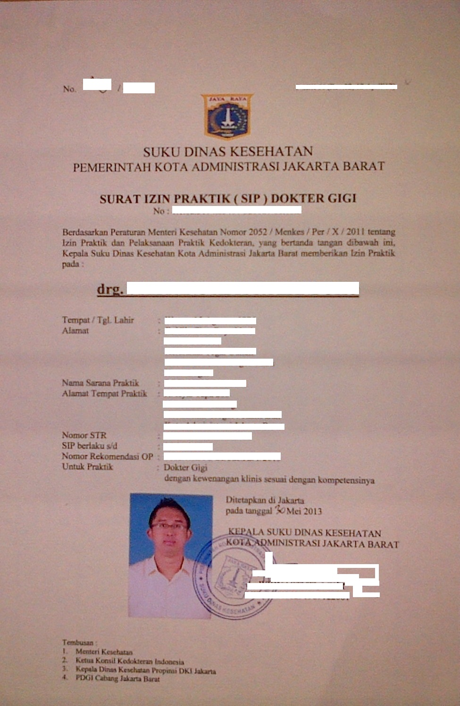Pelayanan Terpadu Satu Pintu Jakarta Barat: Dokter Gigi
