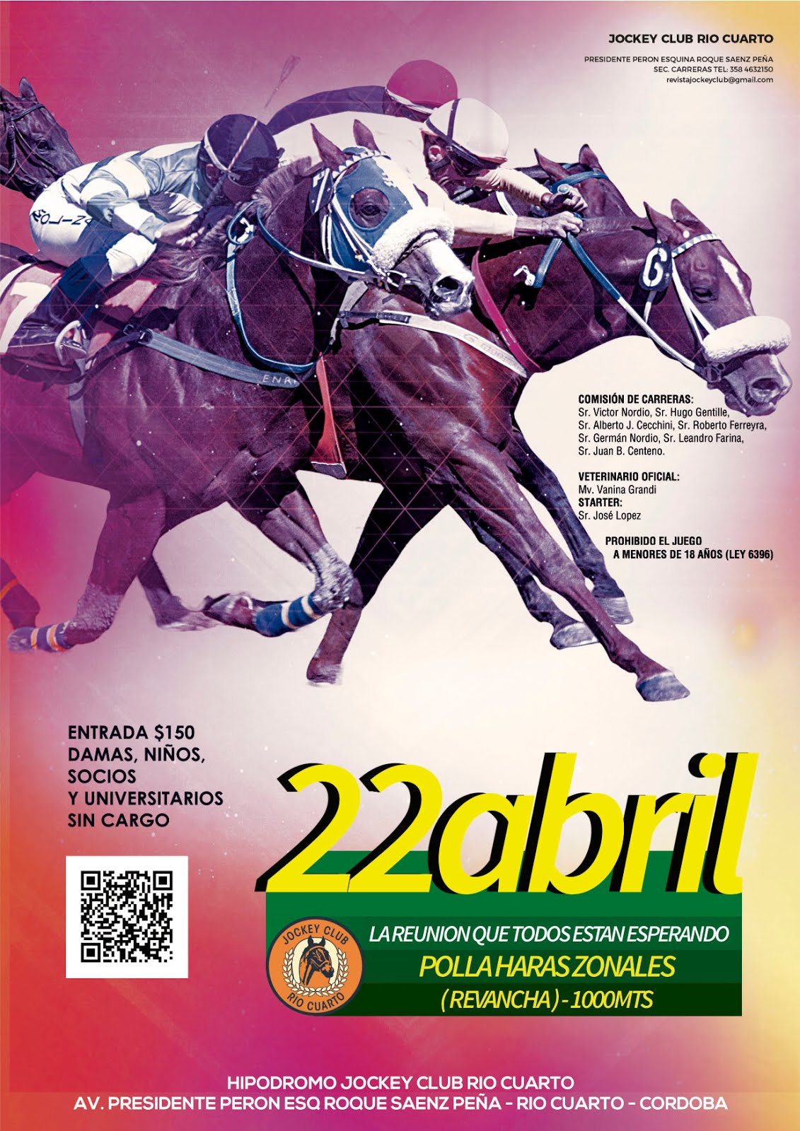 Programa de Carreras - Abril - Jockey Club Río Cuarto