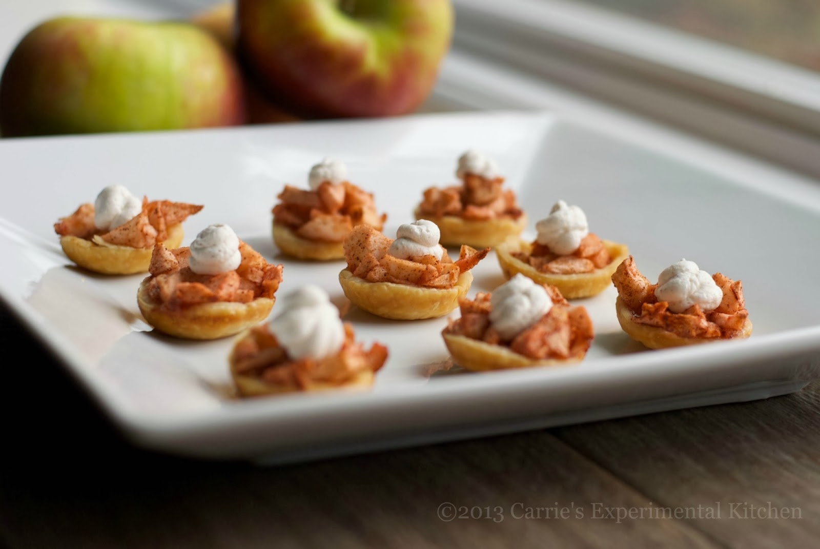 Spiked Mini Apple Tarts with Cinnamon Whipped Cream - Carrie's ...