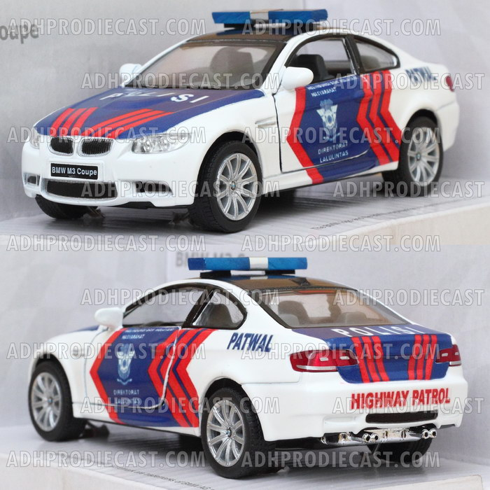 Miniatur BMW M3 Coupe Polisi Indonesia (Patwal-32K)