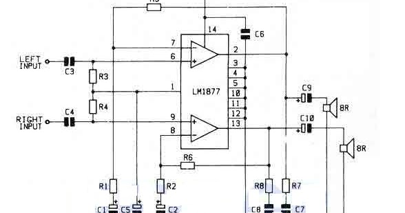 Free Owners Manual Pdf  Simple 2 Watt Stereo Amplifier With Lm1877n 9 Circuit Diagram