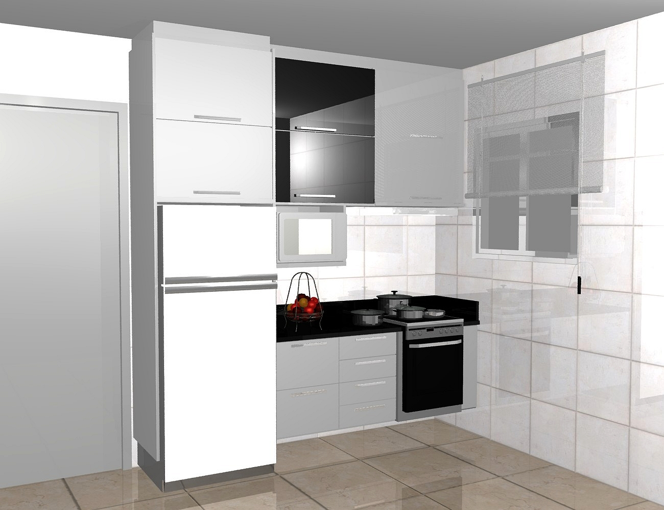 cozinhas planejadas simples bonita pequenas de luxo projeto branca #AE241D 1300 1000