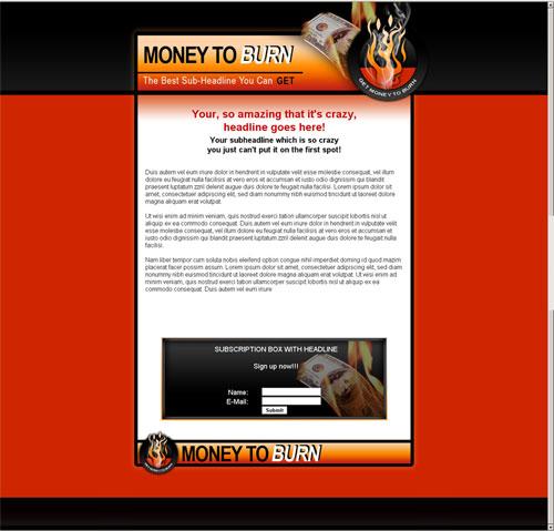 template mini-site web 2